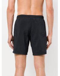 Moschino - Black Logo Waistband Swimming Trunks for Men - Lyst