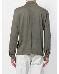 Massimo Alba - Gray Long Sleeved Polo Shirt for Men - Lyst