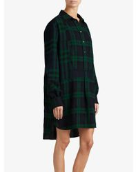 Burberry - Blue Check Tunic Dress - Lyst