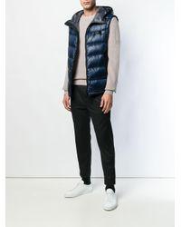Peuterey - Blue Hooded Padded Gilet for Men - Lyst