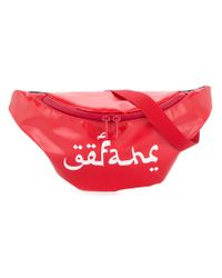 Undercover - Red Logo Printed Belt Bag - Lyst