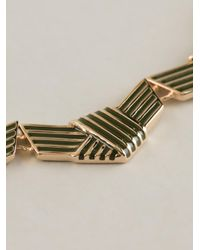 KENZO - Metallic Knotted Necklace - Lyst