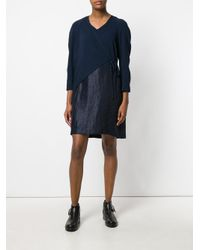 Chalayan - Blue Crossed Short Dress - Lyst