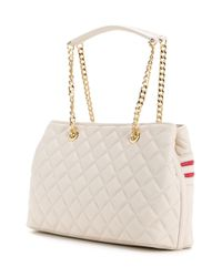 Love Moschino - White Quilted Logo Tote - Lyst
