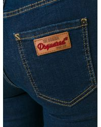 DSquared² - Blue - 'twiggy' Jeans - Women - Cotton/polyester/spandex/elastane - 38 - Lyst