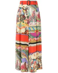 Etro - Multicolor Flared Cropped Trousers - Lyst