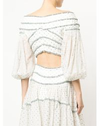 Zimmermann - White Cropped Polka Dotted Top - Lyst