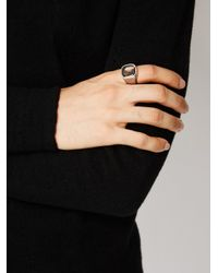 Tobias Wistisen - Metallic Stone Embellished Ring for Men - Lyst