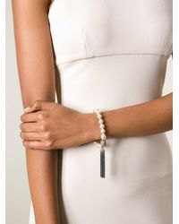 Loree Rodkin   Metallic Pearl Tassel Bracelet   Lyst