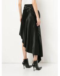 Marques'Almeida - Black Feather Hem Asymmetric Skirt - Lyst