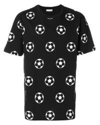 b219f948d248e1 Lyst - Gosha Rubchinskiy Football Print T-shirt in Black for Men