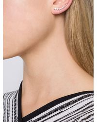 Anita Ko - Metallic Floating Diamond Earring - Lyst