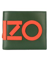 KENZO - Green Graphic Logo Wallet for Men - Lyst