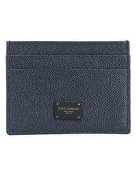 Dolce & Gabbana - Blue Logo Cardholder - Lyst