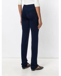 La Perla - Blue New Silk Soul Trousers - Lyst