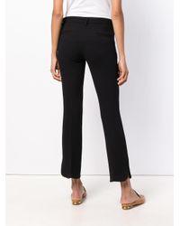 L'Autre Chose - Black Slit Leg Cropped Trousers - Lyst