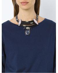 Camila Klein - Metallic Millipede Necklace - Lyst