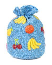 Ganni - Blue Edison Mini Handbag - Lyst