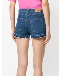 DIESEL - Saby Women's Shorts In Blue - Lyst