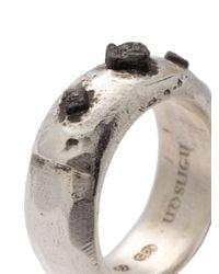 Henson | Metallic Cube Ridge Ring | Lyst