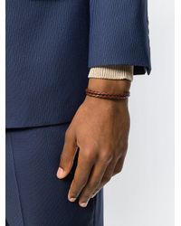 Canali - Brown Woven Bracelet for Men - Lyst