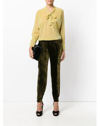 Roberto Collina - Yellow Neck-tied Shift Blouse - Lyst
