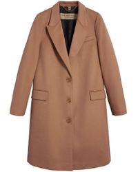Burberry - Brown Tailored Single-breasted Coat - Lyst