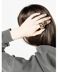 Y. Project - Metallic Finger Shape Chunky Ring - Lyst