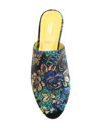 Danielapi - Blue Floral Patterned Mules - Lyst