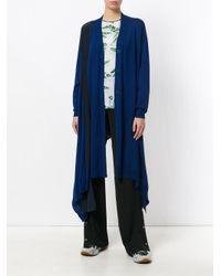 Stella McCartney - Blue Asymmetric Cardigan - Lyst