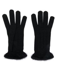Cruciani - Black Knitted Glovers - Lyst