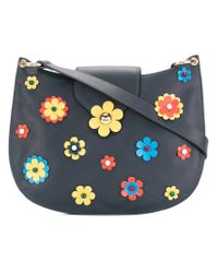 Tila March Blue Mila Floral Hobo Bag
