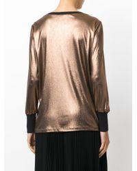 Fabiana Filippi - Metallic Loose Fit Knitted Top - Lyst