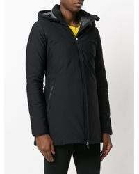 Save The Duck - Black Zipped Hooded Coat - Lyst