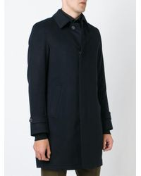 Herno - Blue Classic Coat for Men - Lyst
