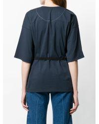 Aviu Blue Embellished Pocket Oversize T-shirt