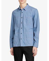 Burberry - Blue Japanese Denim Shirt for Men - Lyst