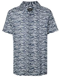 Onia - Blue Graphic Print Shirt for Men - Lyst