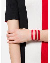 Tom Ford - Red Buckle Wrap Bracelet - Lyst
