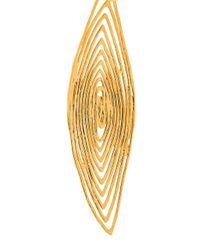 Gas Bijoux - Metallic 'long Wave' Drop Earrings - Lyst