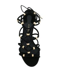 Ferragamo Black High Flower Heel Sandals