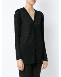 Egrey - Black 'dallas' Knitted Long Cardigan - Lyst