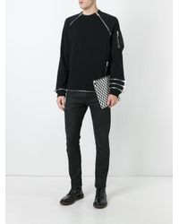 Givenchy - Black Zip Panel Sweatshirt for Men - Lyst