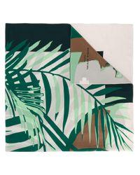 Sonia Rykiel - Green Palm Print Scarf - Lyst