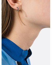 Maria Black - Metallic Elodie Vert Twirl Tsavorite Earring (right) - Lyst
