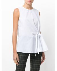 Fabiana Filippi - White Side Tie Top - Lyst