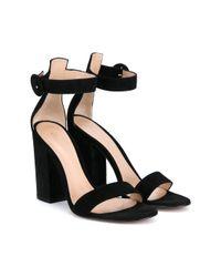 Gianvito Rossi - Black 'versilia' Sandals - Lyst