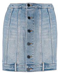 Alexander Wang - Blue Seamed Fitted Denim Skirt - Lyst