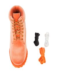 Off-White c/o Virgil Abloh - Orange Timbaland Boots - Lyst