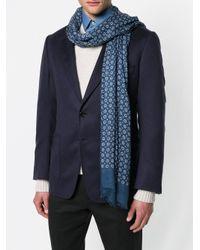 Pal Zileri - Blue Floral Print Scarf for Men - Lyst